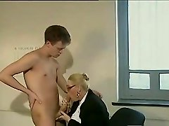 Fat dick guy pummels a mature secretary