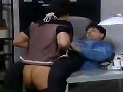 Cool German assistant in stockings fucked on the desk