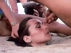 Crazy homemade Outdoor, Facial adult pin