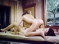 Oily retro nymph-girl massage