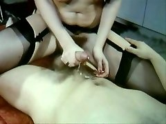 Sexy Vintage flick of steamy sex stockings and fur