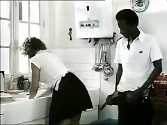 Exotic amateur Retro, Interracial porno clip