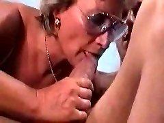 German Granny Bangs And Sucks Her Dude