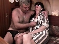 Vintage French sex video with a mature furry couple