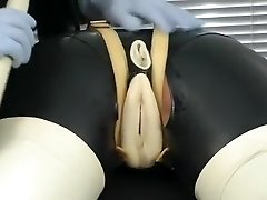 Hottest homemade BDSM, Latex sex movie
