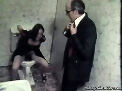 Ravaging on the bathroom floor