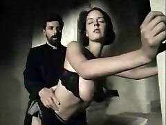 Italian vintage scene with a big-boobed honey getting facial
