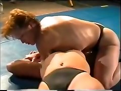 Hard-core Lesbian Sex Struggle On Academy Grappling