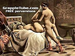 Vintage retro classical hardcore ravaging and oral hardcore sex perversions