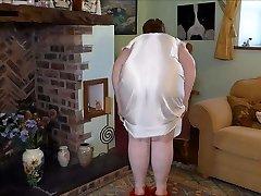 Cream Antique Night Dress  Selling on ebay now