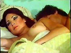 Vintage damsel woken up for sex by her husband on bed