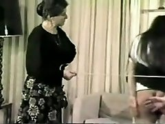 Old-school spanked and caned