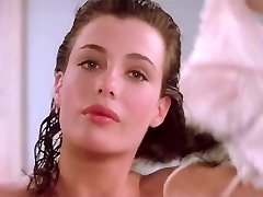 Kelly LeBrock Woman In Red Side Boob Fur Covered Pussy Flash
