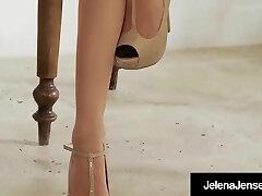 Uber-sexy Jelena Jensen Does A HOT Vintage Pantyhose Show!