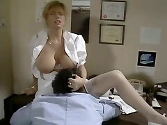 Jaw dropping huge-boobed nurse gets her pussy licked by kinky patient