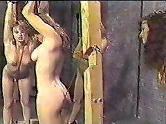 Vintage Lesbian torment whipping bondage KOLI