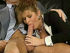German lady drilled by two business guys