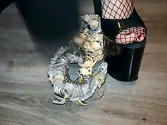 Lady L crush angry dragon.