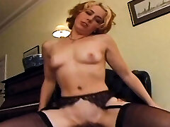 Dark-hued cock goes deep in redheads asshole