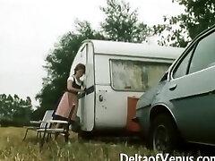 Retro Porn 1970s  Hairy Brunette Teen  Camper Coupling
