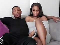 black step brother pokes black step sister
