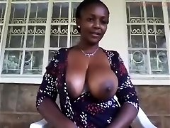 Unexperienced MILF Teasing Her Big Nipples and Clit