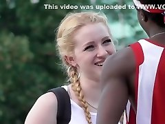 Hot girl flirts with black guys