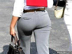 These asses look good even in work clothes