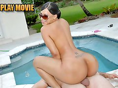 Super hot latina and her big ass booty get drilled by the pool doggystyle in these amazing bikini vids
