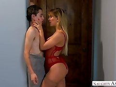 Fairly bootyful sexpot Cherie Deville gets bent over and plumbed doggy