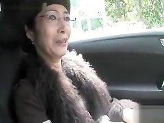 Hot Asian granny suck beefstick and pummel