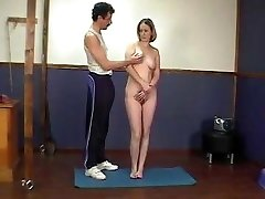 Dame gets stripped punished and spanked by elder teacher