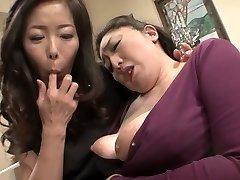 Incredible Japanese whore in Wild Mature, Lesbian JAV movie