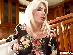 Ash-blonde Stepmom Can't Discipline Her Horny Son