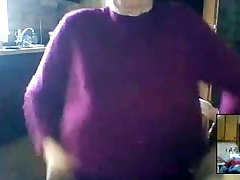 Saggy Tits Granny on Cam
