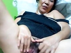 Filipino granny 58 tearing up me stupid on webcam. (Manila)1