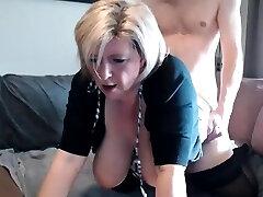 Rhyse Richards ginormous boobs blonde mature