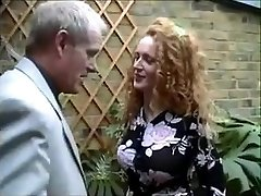 English red-haired Nicole gets caught smoking a joint