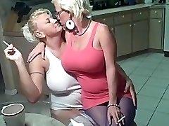 Smoking lesbians giant tits