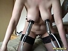 Insane Mature Milking Machine