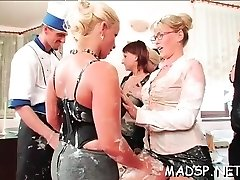 Kinky sequences with hotties fucking in a gang