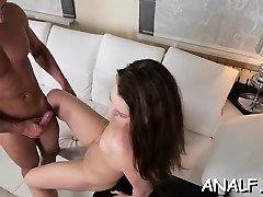 Thin honey groans with schlong shagging her in rough anal