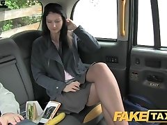 FakeTaxi Brunette exhibitionist enjoys cameras