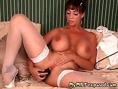 My MILF Exposed Buxom pornographic star Summer in fishnets and huge d
