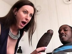 Lara Latex Quenches Her Hunger For Black Man Sausage