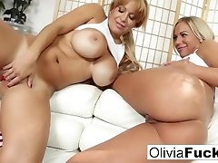 Olivia has super-fucking-hot pre-game sex with her teammate Alyssa
