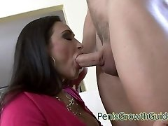 Huge globes babe rides cock