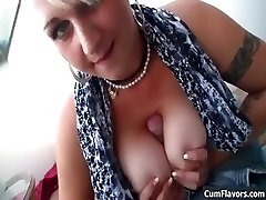 Sexy phat tits blonde loves sucking part2