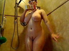 Webcams 2015 - The Legendary AmberCutie 5: Milk Bathroom