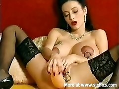 Huge anal dildo drilling Queen of extreme